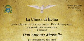 Locandina Ordinazione Presbiterale Antonio Mazzella